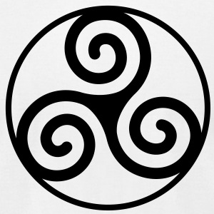 Triskelion - Men's T-Shirt by American Apparel