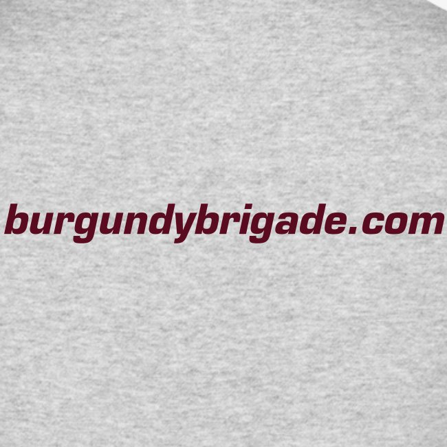 Burgundy Brigade Logo - Mens - Long Sleeve