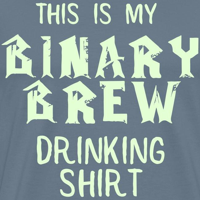 Binary Brew Drinking Shirt (Glow in the Dark)