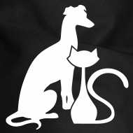 Design ~ PAWS Logo White Dog Bandana