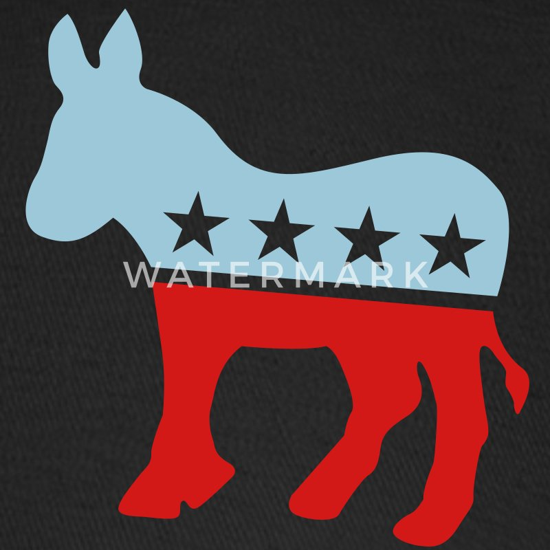 Democrat Donkey TWO COLOR Caps - Baseball Cap