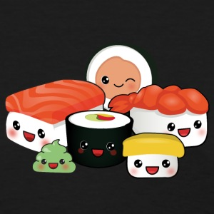 happy sushi family black - Women's T-Shirt