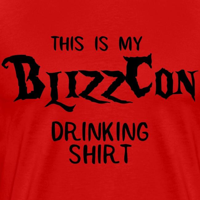 BlizzCon Drinking Shirt (Black Text)