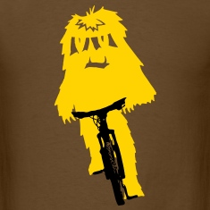Yeti monster on a bike