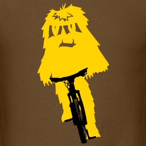 Yeti monster on a bike - Men's T-Shirt