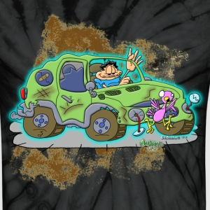 Ongher's UFO Crashed Car - Unisex Tie Dye T-Shirt