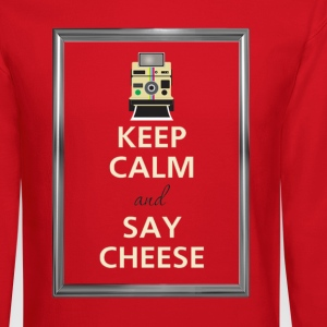 Keep Calm and say cheese Long Sleeve Shirts - Crewneck Sweatshirt