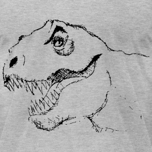 KCCO - Dinosaur Sketch Psych - Men's T-Shirt by American Apparel