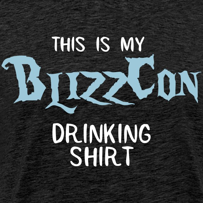 BlizzCon Drinking Shirt (White/Blue Text)