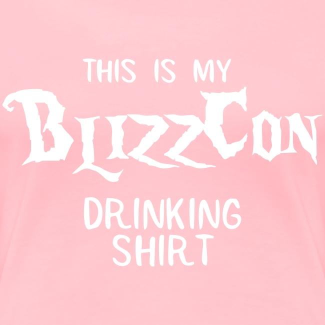 BlizzCon Drinking Shirt (White Text)