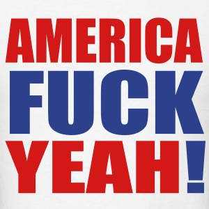 America Fuck Yeah! Vector (Pick Colors) T-Shirts - Men's T-Shirt