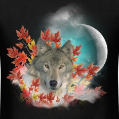 Wolf Harvest Moon T-Shirts