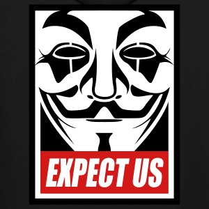 Anonymous Expect us Hoodies - Men's Hoodie