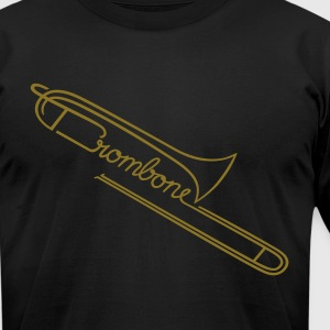 The Trombone  T-Shirts - Men's T-Shirt by American Apparel