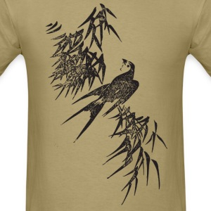 Japanese Bird Art T-Shirts - Men's T-Shirt
