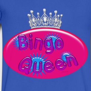 Bingo Queen Bubble T-Shirts - Men's V-Neck T-Shirt by Canvas