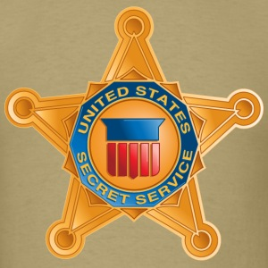 Secret Service Badge T-Shirts - Men's T-Shirt