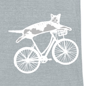 Cat reclines on bike T-Shirts - Unisex Tri-Blend T-Shirt by American Apparel