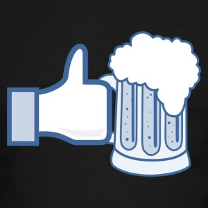 Like Beer - Facebook Parody T-Shirts - Men's Ringer T-Shirt