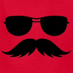 sunglasses and mustache Kids' Shirts - Kids' T-Shirt