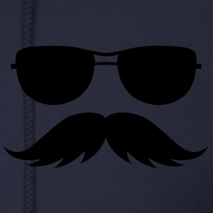 sunglasses and mustache Zip Hoodies/Jackets - Men's Zip Hoodie