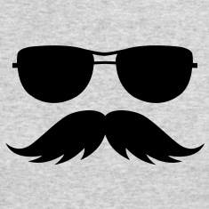 sunglasses and mustache Long Sleeve Shirts