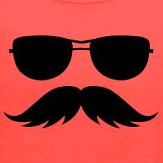 sunglasses and mustache Tanks