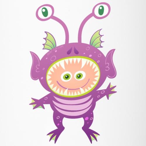 Cool boy wearing a Halloween alien costume