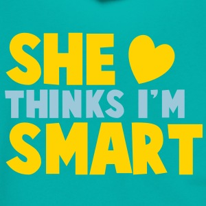 SHE THINKS I'm SMART! Zip Hoodies/Jackets - Unisex Fleece Zip Hoodie by American Apparel