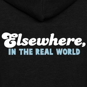ELSEWHERE, in the REAL WORLD Zip Hoodies/Jackets - Unisex Fleece Zip Hoodie by American Apparel