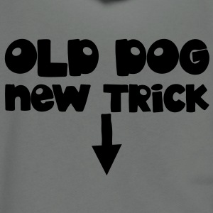 OLD DOG with new trick good for the old man! Zip Hoodies/Jackets - Unisex Fleece Zip Hoodie by American Apparel