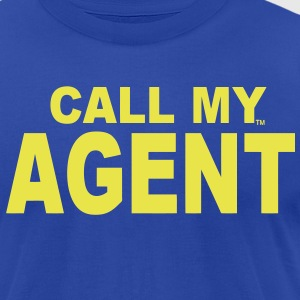 CALL MY AGENT - Men's T-Shirt by American Apparel