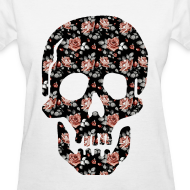 Design ~ ROSE SKULL - LADIES TSHIRT