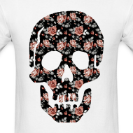 Design ~ ROSE SKULL - MENS TSHIRT