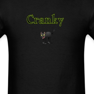 cool cranky black Halloween funny cat - Men's T-Shirt