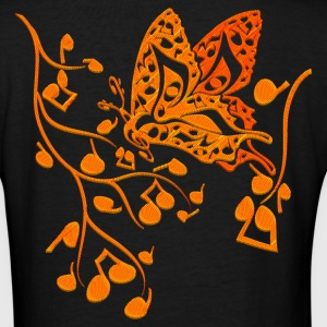 Butterfly_Notes - Women's V-Neck T-Shirt