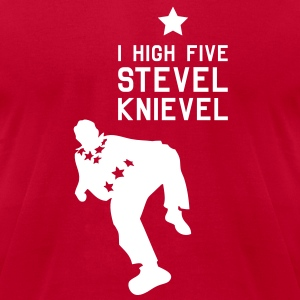 STEVEL KNIEVEL FAN SHIRT - Men's T-Shirt by American Apparel