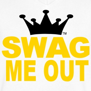 SWAG ME OUT T-Shirts - Men's V-Neck T-Shirt by Canvas