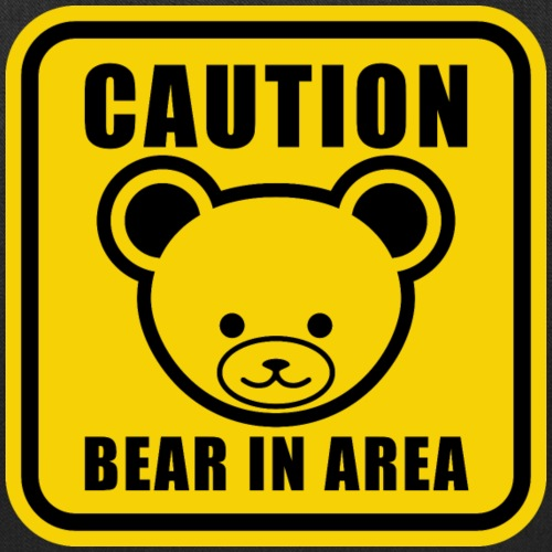 Cute Teddy Bear Warning Sign in yellow