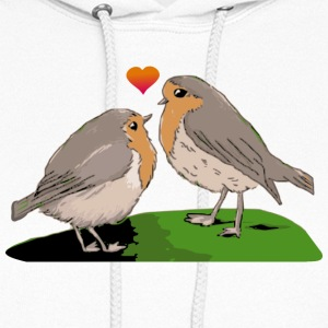 Robin redbreast bird love - Women's Hoodie