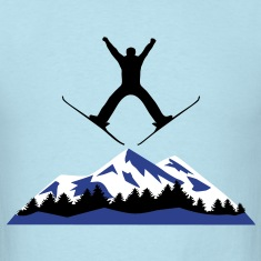 Ski, skiing, mountains, winter T-Shirts