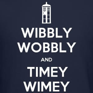 Wibbly Woobly and Timey Wimey Long Sleeve Shirts - Crewneck Sweatshirt