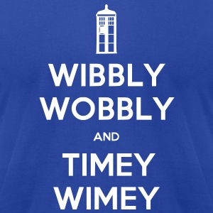 Wibbly Woobly and Timey Wimey T-Shirts - Men's T-Shirt by American Apparel