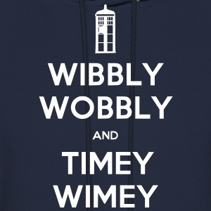 Wibbly Woobly and Timey Wimey Hoodies - Men's Hoodie