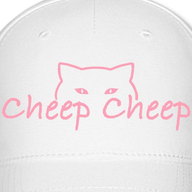 """CheepCheep"" Baseball Cap w/ Paw Print on back"