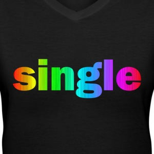 SINGLE - Women's V-Neck T-Shirt