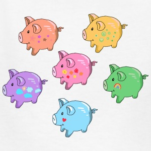 Rainbow pigs cute kids t-shirt - Kids' T-Shirt