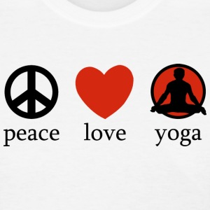 Peace Love Yoga T-Shirt - Women's T-Shirt