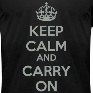 Keep Calm and Carry On Classic 2 Color T-Shirts - Men's T-Shirt by American Apparel