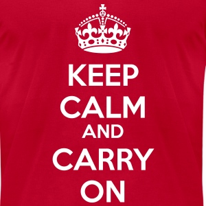 KCCO Keep Calm and Carry On Classic T-Shirts - Men's T-Shirt by American Apparel